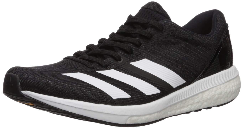 adidas Women's Adizero Boston 8 Running Shoe, White/Black, 5 M US
