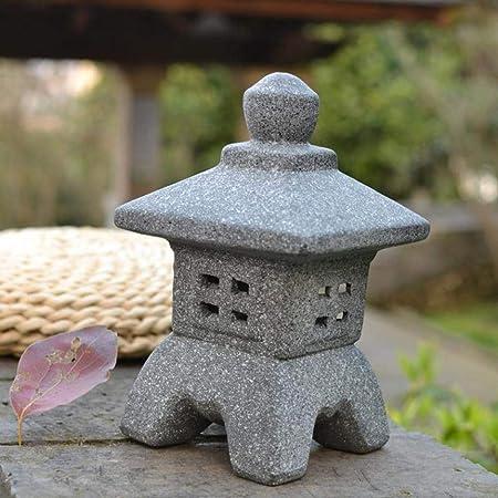 Estatuas para jardín Adornos De Cerámica Japonesa Palacio De La Lámpara Jardín Zen Esculturas De Interior Al Aire Libre Luz Manualidades A~10 * 10 * 20CM: Amazon.es: Hogar