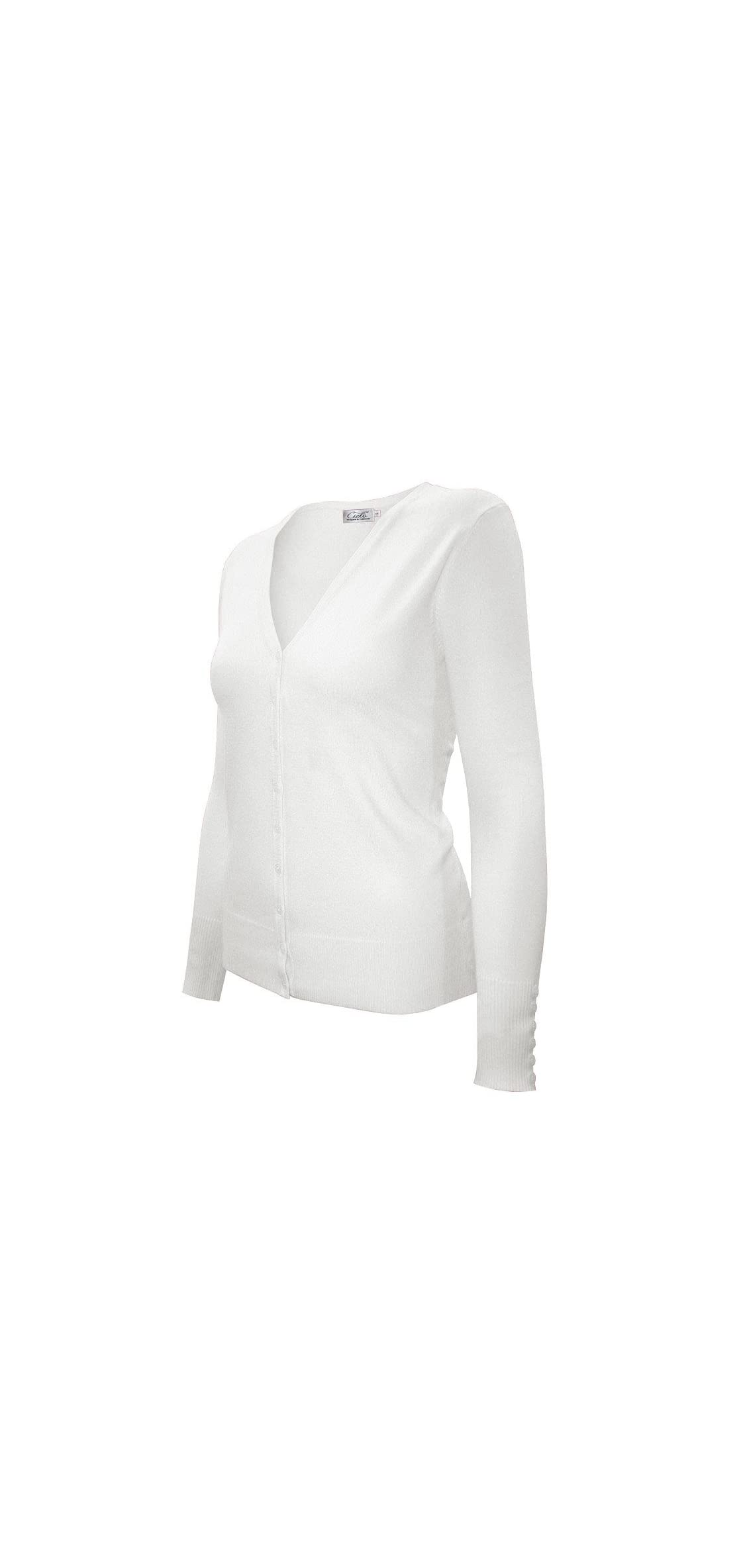 Women's Classic Knit Silk Soft Cardigan Sweater, V-neck
