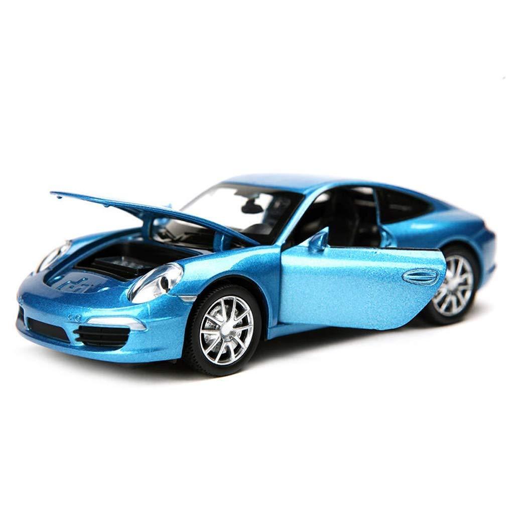 Color : Blue GCM Porsche 911 Model 1:32 Analog Die Casting Sports Car Alloy Car Model Decoration Simulation Original Collection
