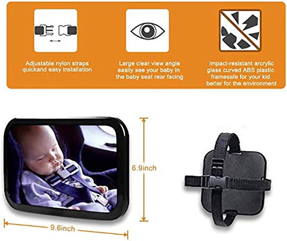 R/ückspiegel f/ür Neugeborene und junge Kinder R/ücksitzspiegel f/ür Babys Crash getestet und zertifiziert f/ür Sicherheit 360 /° verstellbar
