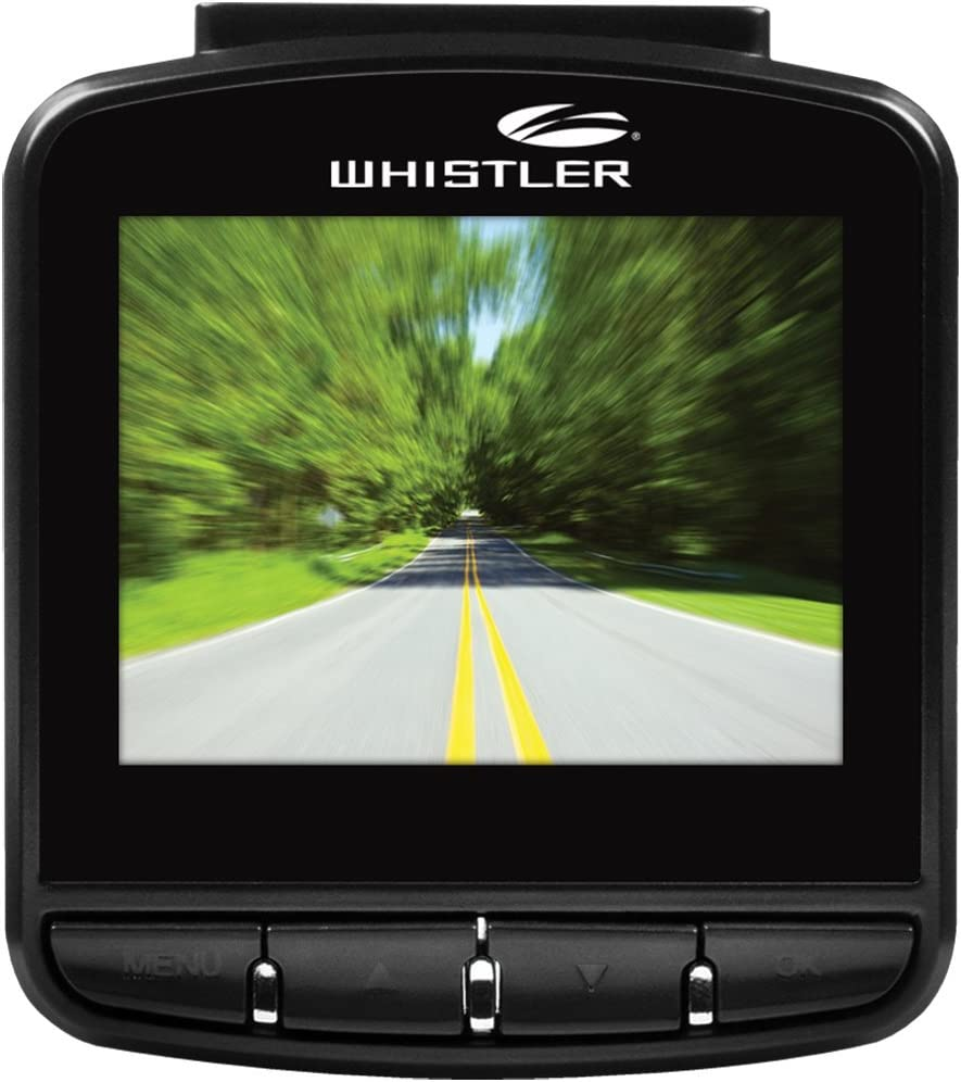 "Whistler D13VR Windshield Mount Dash Camera with 2.4/"" Inch LCD Monitor 1080p HD"