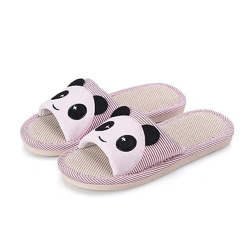 Zapatillas,Chanclas,Zapatos,Zapatillas de Lino Lindas de Dibujos Animados Zapatillas de casa Gruesas Antideslizantes Zapatillas de Lino: Amazon.es: Zapatos ...