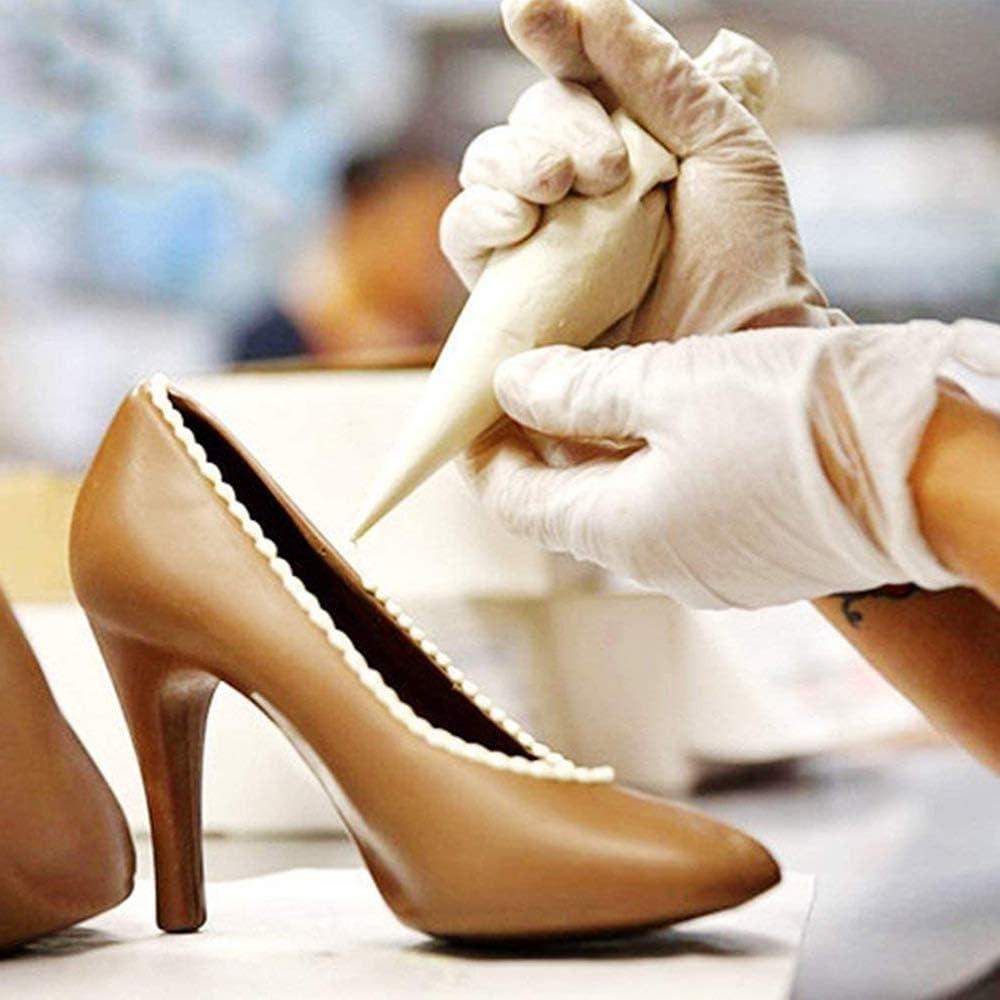 yyuezhi Molde de Pl/ástico 3D para Zapatos de Tac/ón Alto DIY Zapato de Tac/ón Alto 3D DIY Fondant Cake Molde Decoraci/ón de Pasteles Molde Pastel Chocolate Tac/ón Bricolaje Molde Herramientas Decoraci/ón