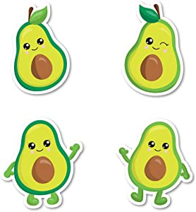Smiling Avocados Sticker Pack Avocados Stickers - 4 Pack - Sticker Vinyl Decal - Laptop, Phone, Tablet Vinyl Decal Sticker (4 Pack) S183152