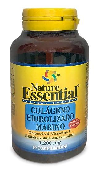 Colágeno marino hidrolizado 1200 mg 90 comprimidos con magnesio, ácido hialurónico y vitamina C