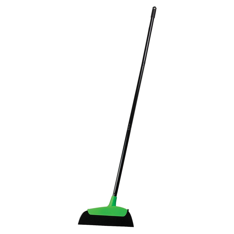Casabella Neon Hair Magnet Broom, Black/Green 85363