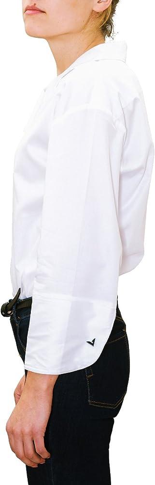 chaika Camisa Blusa Mujer Manga Larga de Vestir para Gemelos Moda 2018 Blanca S: Amazon.es: Ropa y accesorios