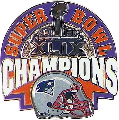 [New England Patriots Super Bowl XLIX (49) Champions Pin - Helmet Style] (Helmet Style Pin)