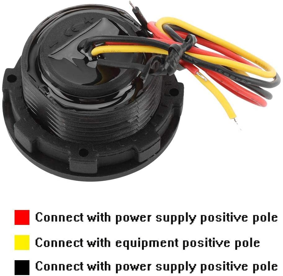 Fydun Digital Voltmeter DC 0-100V Waterproof LED Panel Display Digital Voltage Meter for Car Motorcycle Boat ATV