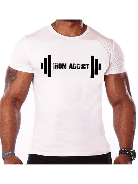 6881d04577f13c Tshirt Rocket Iron Addict Barbell Weightlifter Dri Fit T Shirt Bodybuilder  Weightlifting Gym Shirt | Amazon.com