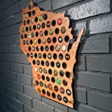State Beer Cap Map - as seen on The Today Show (Wisconsin) offers
