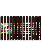 Gitarren Noten-Aufkleber Guitar Griffbrett Note Griffbrett Bund Karte für Anfänger Lernen für akustische und elektrische Gitarren
