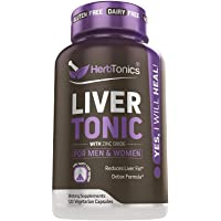 Liver Cleanse Detox & Repair Formula – 24 Herbs Support Supplement: Milk Thistle...