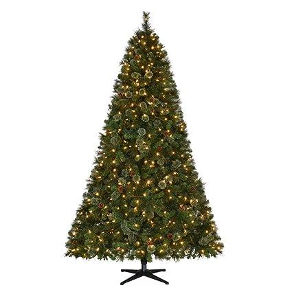 Amazon.com: Martha Stewart Living Pre-Lit LED Alexander Pine ...