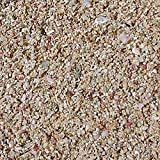 Safe & Non-Toxic (Tiny Size, 0.04'' - 0.08'' Inch) 40 Pound Bag of Sand Decor Made of Aragonite for Freshwater & Saltwater Aquarium w/ Natural Beneficial Seashell Style [Tan, Light Brown & White]