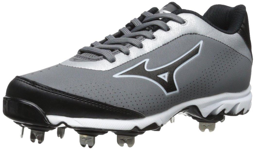 Mizuno Men's Vapor Elite 7 Low Baseball Cleat B00DIF1JOK 12.5 D(M) US|Grey/Black