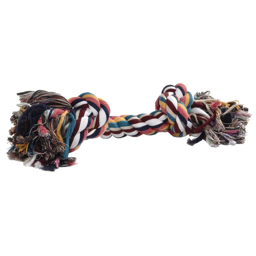 BEEZTEES Cordon en Coton avec 2 Nœuds pour Chien Multicolore 125 g 640930