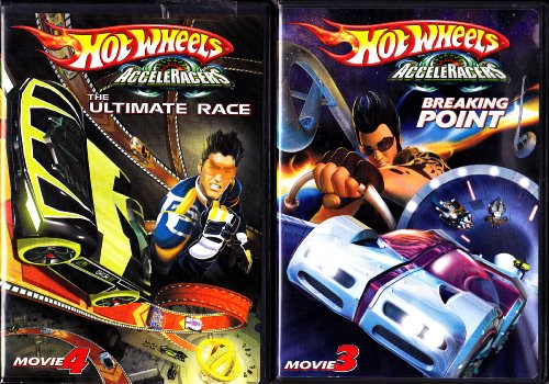 (Hot Wheels Acceleracers the Ultimate Race ,Hot Wheels Breaking Point : 2 Pack)