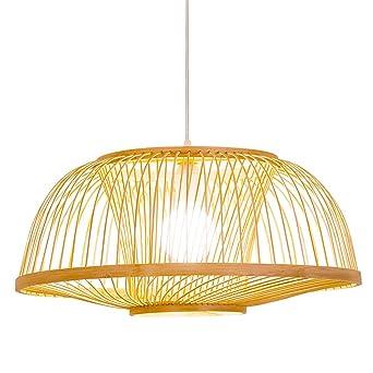 Lámparas de araña bambú Jaula de pájaros Luz colgante Cromo ...