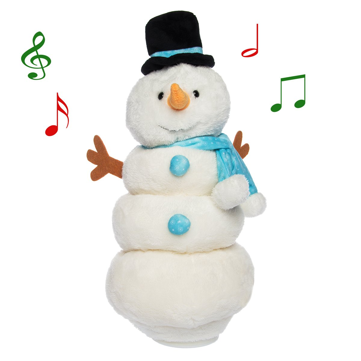 sports shoes a79c5 aae74 Simply Genius Singing Dancing Snowman: Animated Plush Toy Doll Stuffed  Animal Light Up Moving Figure for Christmas Decorations, Snowman  Decorations, ...