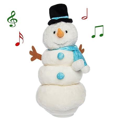 amazon com simply genius singing dancing snowman animated plush
