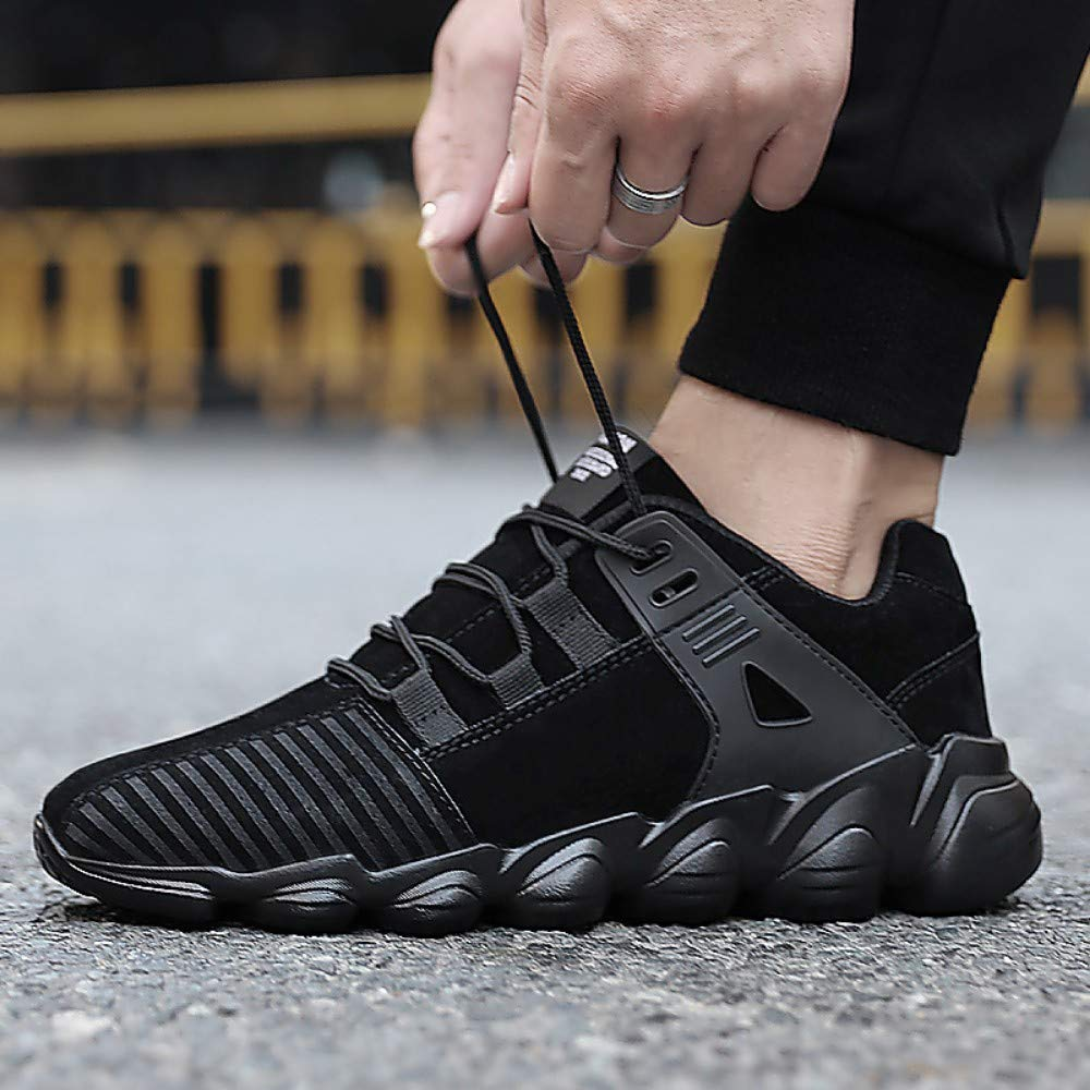 As shown YAYADI Sports shoes Men Black Adult Breathable Sports Jogging Walking Male Athletics shoes Jogging Fitness shoes Lightweight