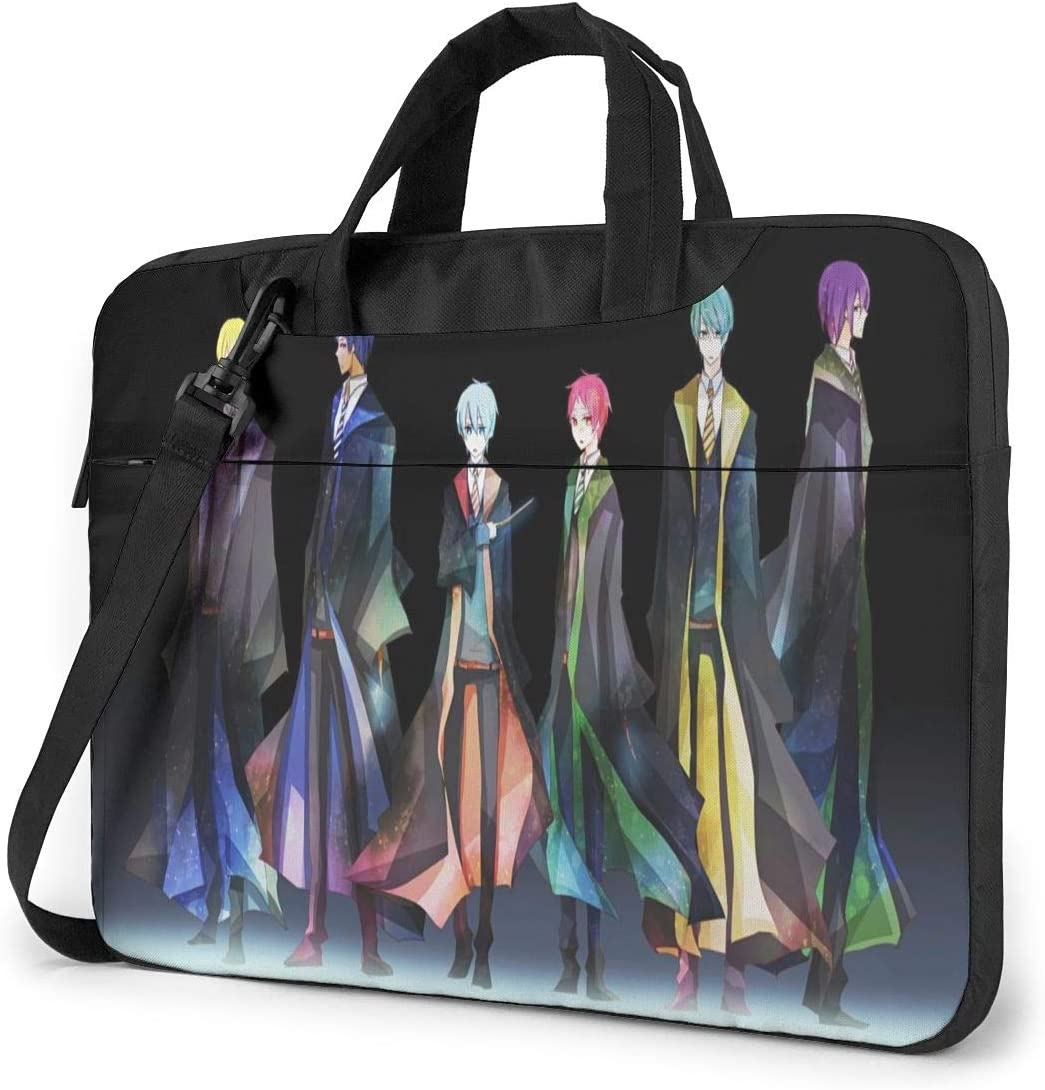 Kuroko's Basketball Laptop Shoulder Messenger Bag,Waterproof Computer Bag Fits For13 Inch Laptop and Tablet,in Fashion School Laptop Briefcase