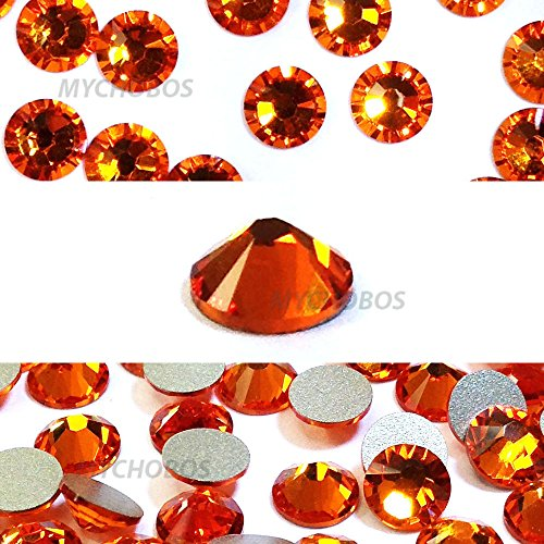 - TANGERINE (259) orange Swarovski 2058 Xilion Rose 9ss 2.6mm flatback No-Hotfix rhinestones ss9 nail art 144 pcs (1 gross) *FREE Shipping from Mychobos (Crystal-Wholesale)*