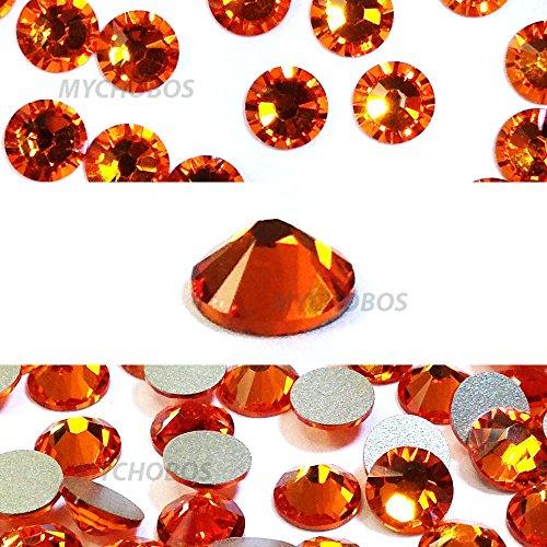 (TANGERINE (259) orange Swarovski 2058 Xilion Rose 9ss 2.6mm flatback No-Hotfix rhinestones ss9 nail art 144 pcs (1 gross) *FREE Shipping from Mychobos (Crystal-Wholesale)*)