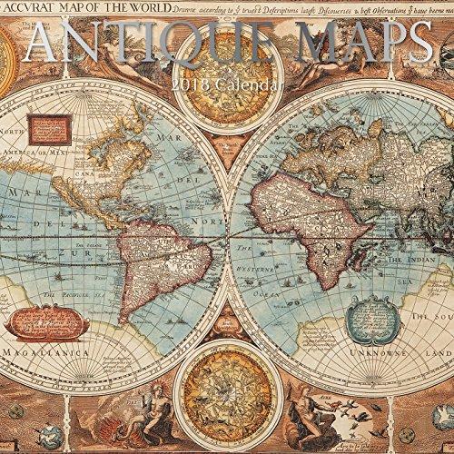 2018 Antique Maps Calendar - 12 x 12 Wall Calendar - With 210 Calendar Stickers (Nature Antique)