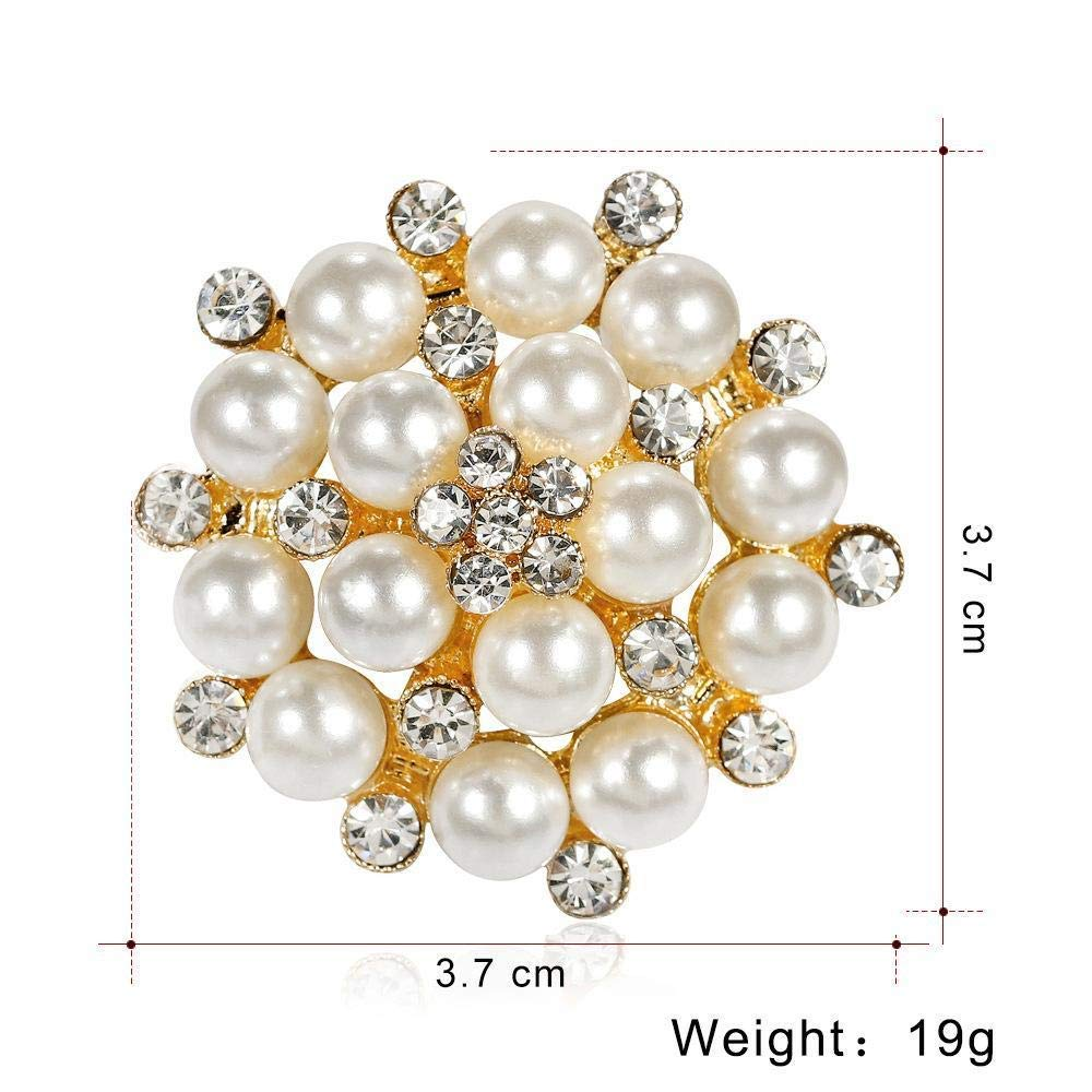 Desti Flakes Simple Brooch Pearl Diamond Alloy Brooch Ladys Shirt Scarf Buckle Autumn and Winter