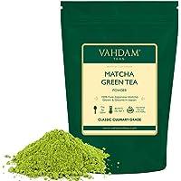 VAHDAM, Matcha Green Tea Powder SUPERFOOD (25 Servings) 100% Pure Authentic Japanese Matcha Powder | Classic Culinary Grade Green Tea Matcha 🍵 137x Anti-OXIDANTS | Matcha Latte Mix & Smoothies
