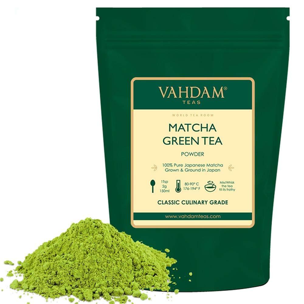 VAHDAM- Certified Japanese Matcha Green Tea Powder - 50 gm (25 Servings) |100% Pure Authentic Japanese Matcha Powder