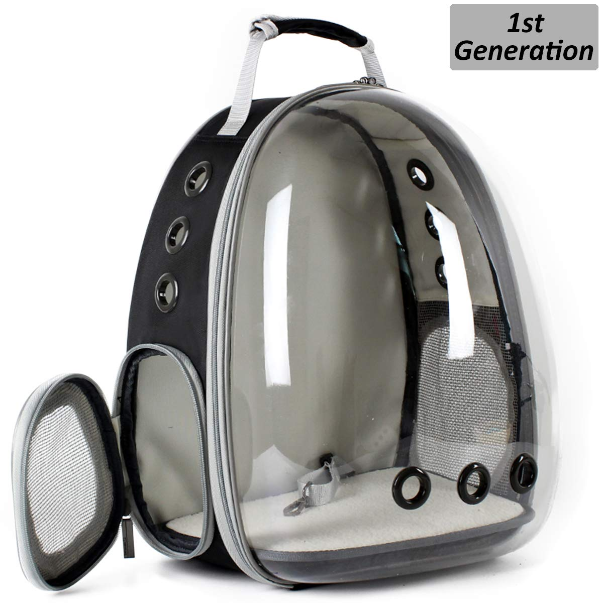 Hcupet Clear Kitten Backpack, Airline Approved Space Capsule Pet Carrier Backpack for Small Dog, Transparent Waterproof Cat Carrying & Holding Outdoor Backpack by Hcupet