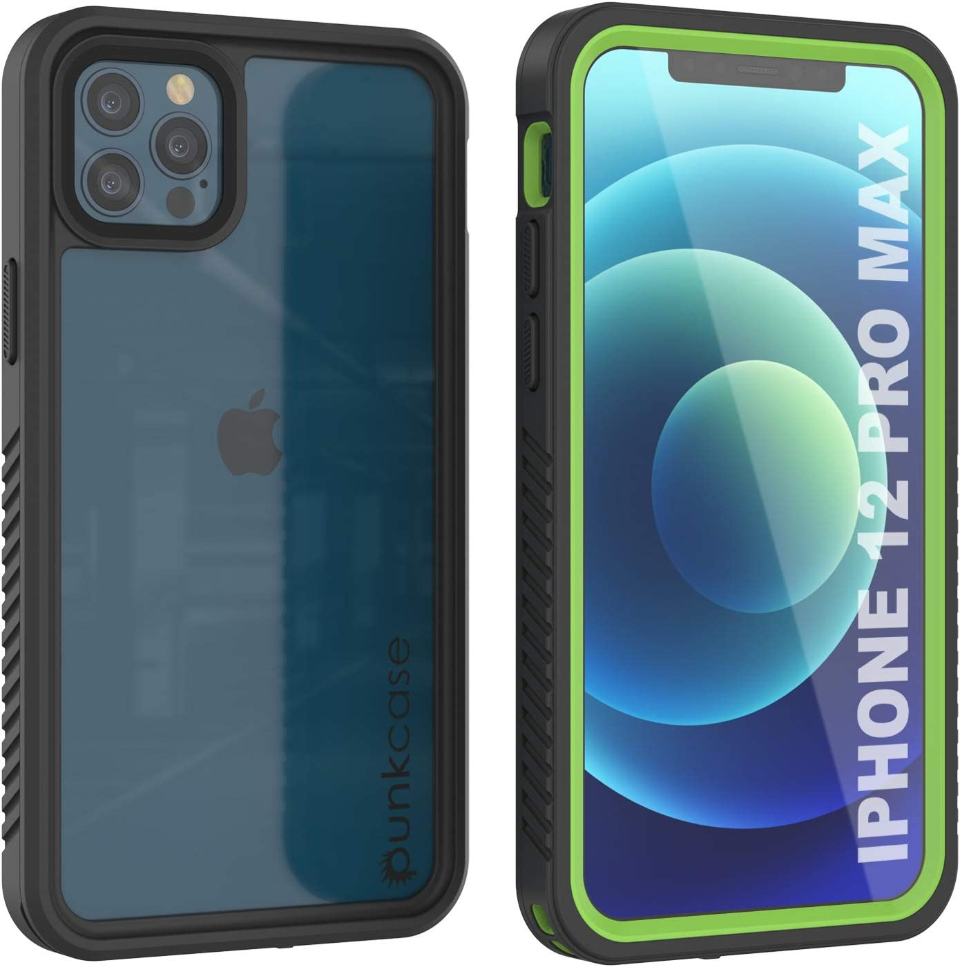 Punkcase iPhone 12 Pro Max Waterproof Case [Extreme Series] [Slim Fit] [IP68 Certified] [Shockproof] [Snowproof] Armor Cover W/Built in Screen Protector for iPhone 12 Pro Max (6.7