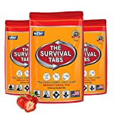 Global Wilderness Expeditions Survival Meal 1-day supply 12 tabs Ultimate Bugout Food 25 Years shelf life Gluten Free and Non-GMO (Strawberry Flavor)