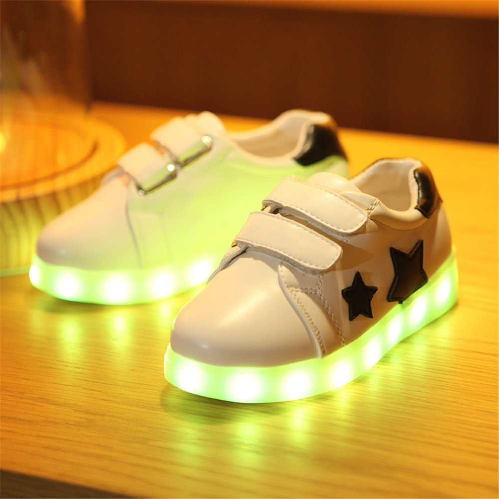 Hanglin Trade LED Kid Light Up Shoes Boys Girls Trainers Star Trainers 7 Colors Light USB Charge Best Gift