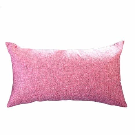 Fundas De Cojines, ❤️Xinantime Funda de cojín rectangular Funda de almohada de seda 30 x 50 cm (❤️Melon rojo)