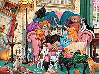 product image for Ceaco Paws Gone Wild - Grandma's Armchair Puzzle (550 Piece)