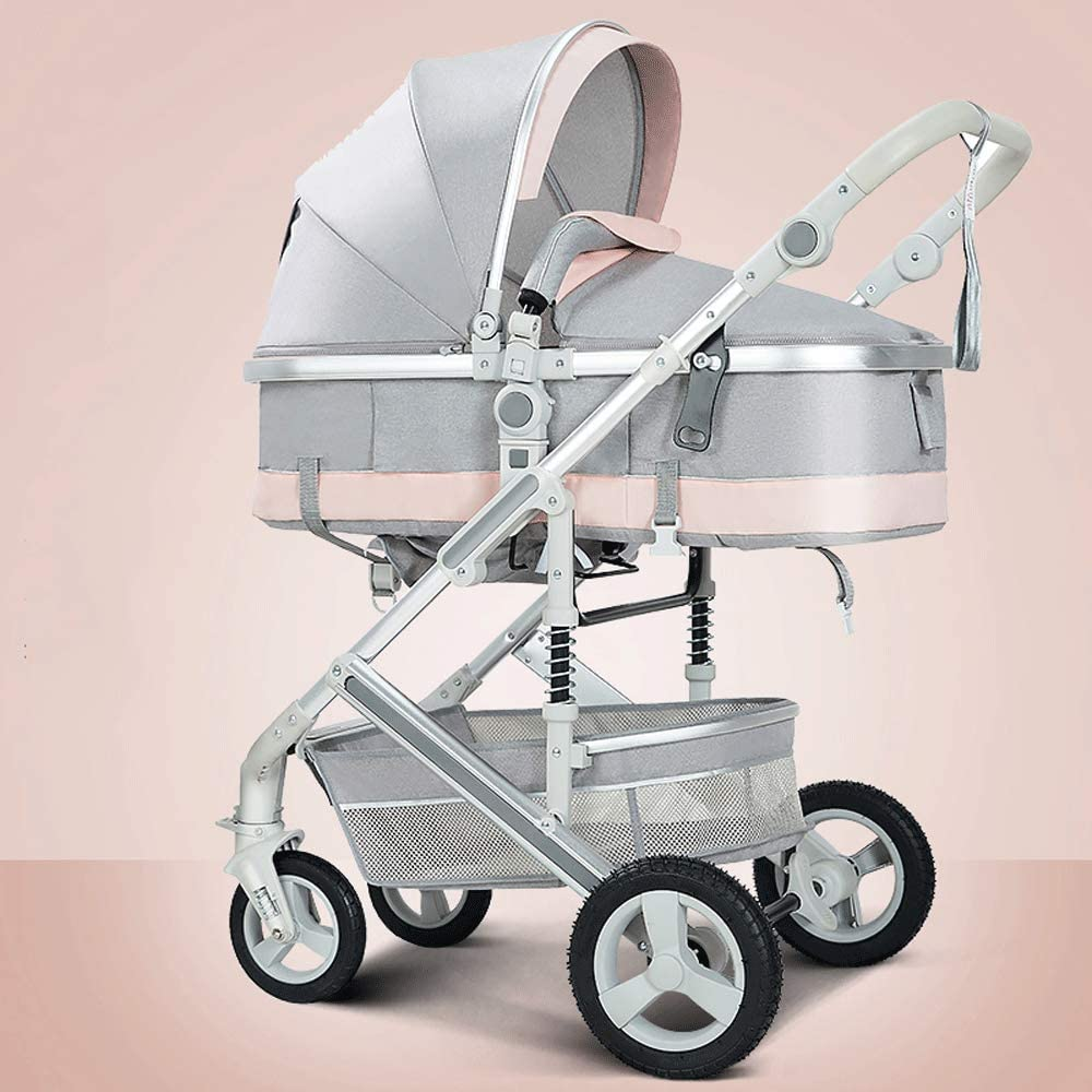 easy to fold high landscape carbon steel pipe body pram to send mosquito net BJYX 3 in 1 pushchair-two-way implementation of four seasons universal 3D shock absorber