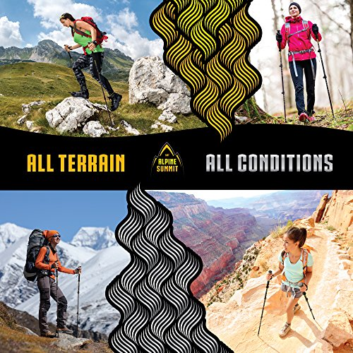 Guide Edition 100% Carbon Fiber Trekking / Hiking Poles with Anti shock Tips and Cork Grips Yosemite Golden Flow Enjoy the Outdoors