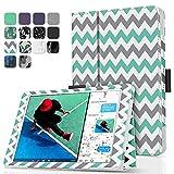 TNP iPad 9.7 Inch 2017 Case / iPad Air 1 Case - Corner Protection Premium PU Leather Folio Smart Cover w/ Auto Sleep / Wake for iPad 9.7 In 2017 Release, iPad Air 1 (Chevron Teal)