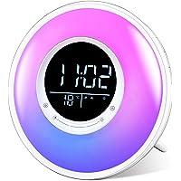 Sunrise Wake Up Light Alarm Clock, FiveHome White Noise Sound Machine with FM Radio, 11 Colors Night Light, 18 Natural…