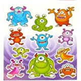 12 x Monster Sticker Sheets - Party Bag fillers toys