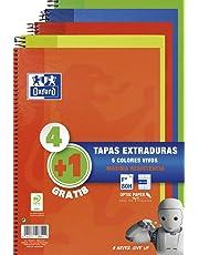 Oxford 100430276, Pack de 5 cuadernos, colores surtido