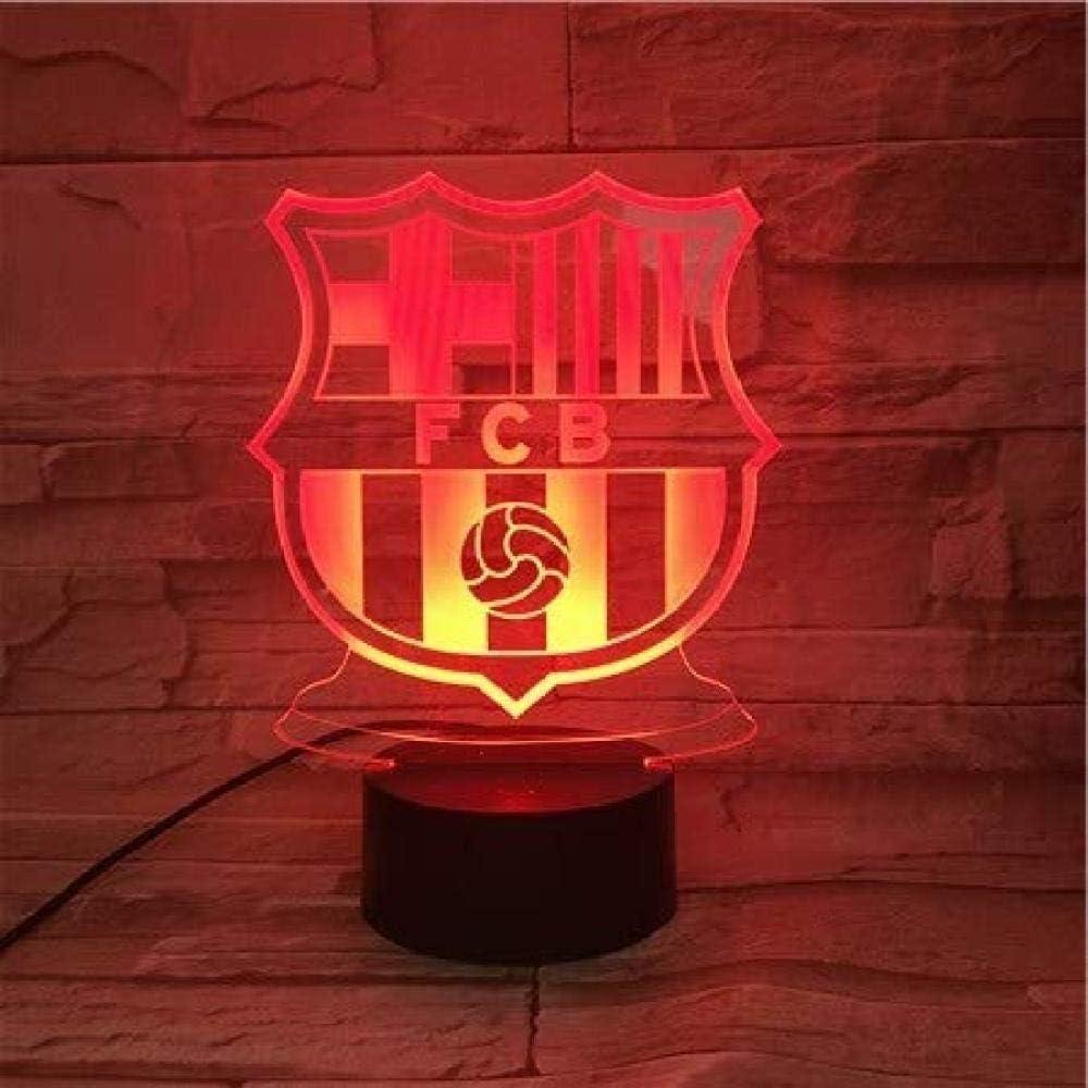 Generic Led Night Lights Football Club Fc Barcelona 3d Illusion Decorative Lights Children Children Gift Night Lamp Table Night Decor Logo Amazon Co Uk Lighting