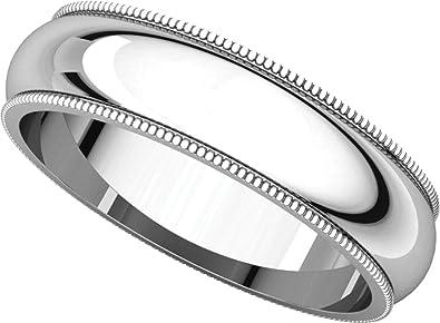 Amazon Com Womens Platinum Milgrain Wedding Band 5mm Gembrooke