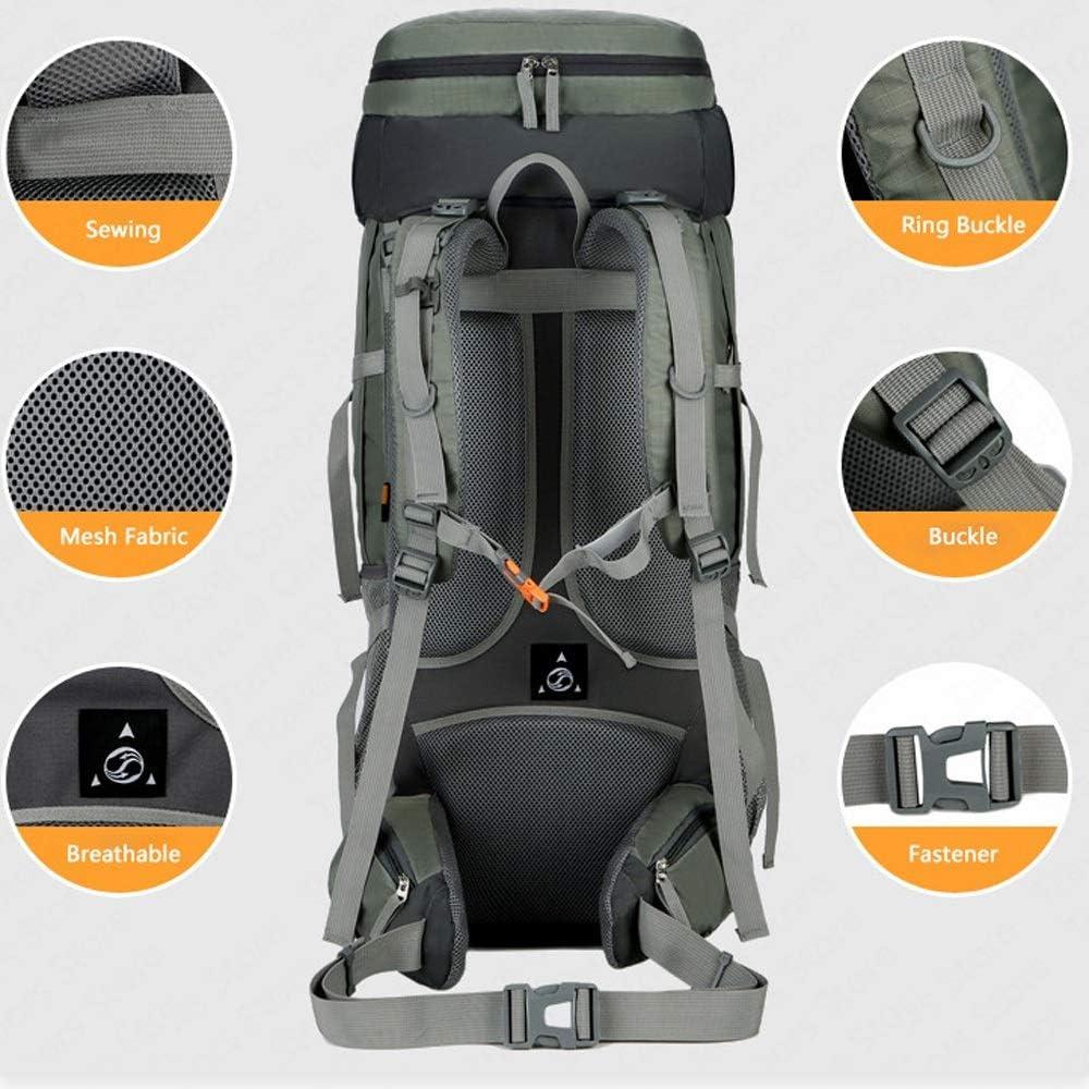 YY-HW Wanderrucksack, for Männer Frauen im Freien Sport, Reiß- und Waterresistant Ideal, for Camping Klettern Rad Fahren Trekking-Reisen im Freien, Rucksäcke für Männer Black