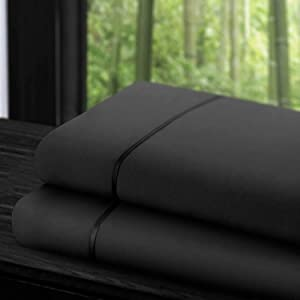 Zen Home Luxury Flat Sheet (2-Pack) - 1500 Series LuxuryBrushed Microfiber w/Bamboo Blend Treatment - Eco-friendly, Hypoallergenic and Wrinkle Resistant - King - Gray
